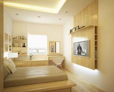Minimalist Small Apartment Bedroom Interior Decor