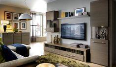 Мебель в гостиную Iberia BRW в цвете дуб платинум