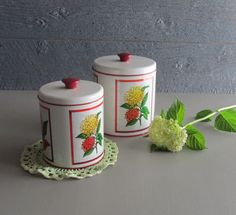 vintage canister set Maid of Honor mid-century by TheWillies