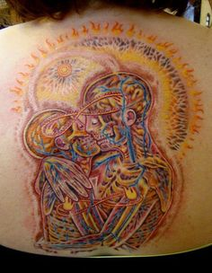 Alex Grey inspired tattoo by Sean Ambrose at Arrows and Embers...