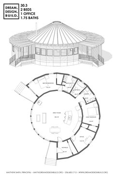 20 Round House Design Plans Round House Design Plans - Elegant Round House Plans Floor Plans Check more at 16 Cutest Small and Tiny Home Plans with Cost to Build Build a yurt wit. Round House Plans, Dream House Plans, House Floor Plans, Yurt Home, Earth Bag Homes, Yurt Living, Silo House, Earthship Home, Dome House