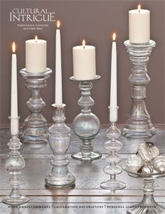 Glass lights ornaments candles wedding wholesale