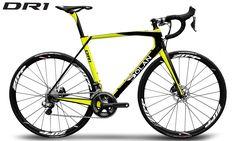 Dolan DR1 Carbon Disc Road Bike Yellow/Black (54cm) Shimano Ultegra DI2 (Code BIK137)