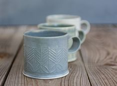 Porcelain mug  unique coffee mug  Gray pottery cup  door FreeFolding