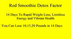 This is the key to lose weight fast naturally. If you are struggling to lose stubborn belly fat. If you tried dieting, starving yourself, working out at the gym. Red Smoothie Detox is designed to be practical fore everyone, whether you are vegan, vegetarian or busy mom. You can make each smoothie in minutes and everyone is delicious!