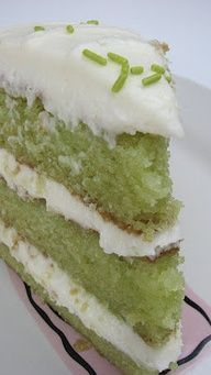 Trisha Yearwoods Key Lime Cake Ive heard that its awesome! Perfect for St. Patricks Day