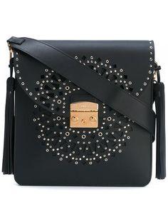 FURLA studded shoulder bag. #furla #bags #shoulder bags #leather #