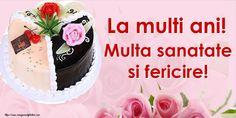 Felicitari aniversare De Zi De Nastere | felicitarianiversare.com Birthday Cake, Desserts, Food, Tailgate Desserts, Deserts, Birthday Cakes, Essen, Postres, Meals