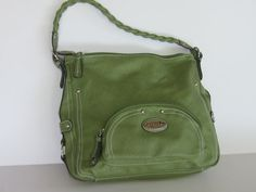 Vintage 80's Avocado Green Supple Leather by TheNerdGirlfriend, $54.50