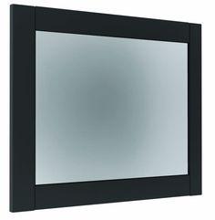 Contemporary framed bathroom mirror from Utopia Bathrooms.