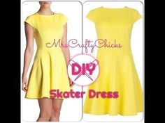 Easy DIY Skater Dress  Teisha I like this youtube better