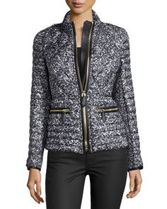 Zip-Front+Quilted+Puffer+Jacket,+Mid+Gray+by+Burberry+at+Neiman+Marcus.