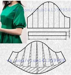 Amazing Sewing Patterns Clone Your Clothes Ideas. Enchanting Sewing Patterns Clone Your Clothes Ideas. Sewing Paterns, Sewing Patterns Free, Clothing Patterns, Techniques Couture, Sewing Techniques, Sewing Collars, Costura Fashion, Sewing Sleeves, Sleeves Designs For Dresses