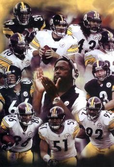 Pittsburgh Steelers Poster Montage of players and Coach Tomlin Pittsburgh Steelers Wallpaper, Pittsburgh Steelers Football, Pittsburgh Sports, Football Team, Steelers Team, Steelers Pics, Here We Go Steelers, Steelers Stuff, Steeler Nation