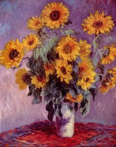 Sunflowers - by Claude Monet (1881)