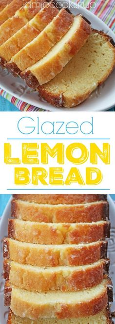 Glazed Lemon Quick Bread from Jamie Cooks It Up! Super moist with a perfect lemon kick.