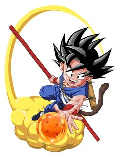 Goku and his 4 Star Dragon ball Dragon Ball Gt, Dragon Z, Kid Goku, Goku Wallpaper, Digimon Wallpaper, Goku Drawing, Dbz Characters, Cartoon Drawings, Manga Anime