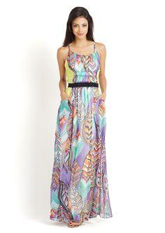 BOUNDARY & CO.  Spaghetti Strap Abstract Maxi Dress