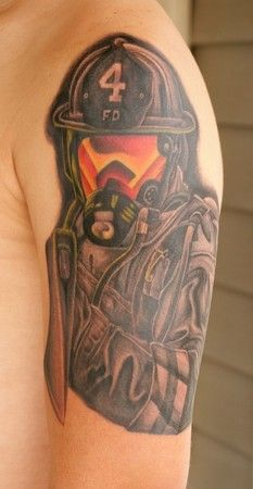 fire department tattoos designs | ... Tattoos on Off The Map Tattoo Tattoos Stretch Firefighter Tattoo