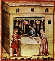 Venditore di candele dal Tacuinum Sanitatis