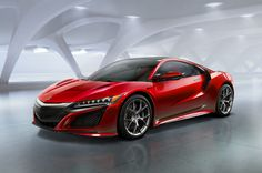 Acura NSX      The most evil interpretation of Acura's signature power plenum grille combined with slim jewel-eye headlights and a low profile make the NSX look like it's not messing around. Add the fact that it puts out 550 hp