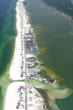 Aerial image of the Alabama Gulf Coast.  Visit http://www.condoinvestment.com/orange-beach-al-subdivisions.php for beach news.