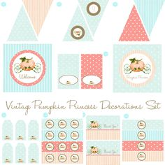 Pumpkin Princess Birthday Party Baby Shower Decorations BeeAndDaisy