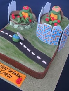 Teenage mutant ninja turtles cake Need to find someone to make this!!!!!!!!