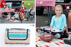 Make a Blanket Statement - Waterproof Picnic Blankets- 77% off!  And with an adorable blanket, it is every time. Perfect to leave in your car for picnics, ball games, a day at the beach or an emergency blanket. Picnic Rugs have Fleece on one side and are waterproof on the back. There is a Velcro strap for folding and black fabric handle to make it easy to carry.