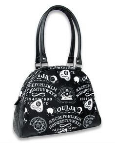 Liquor Brand Damen OUIJA Handtasche.Oldschool,Tattoo,Biker,Pin up,Custom Style