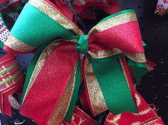 $9 Sparkle Christmas Cheer Bow