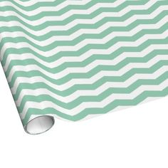 Hemlock Green & White Zig Zag Chevron Striped Wrapping Paper $16.95 per 2'x6' roll. Other size rolls available.