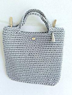 REJAdekor / STYLE BAG svetlošedá Tote Bag, Crochet, Bags, Style, Fashion, Handbags, Swag, Moda, Fashion Styles