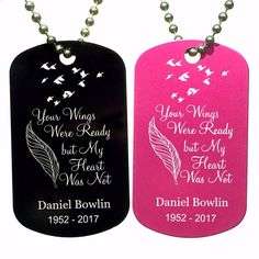 Dog Tags - Your Wings Were Ready Dog Tag Necklace