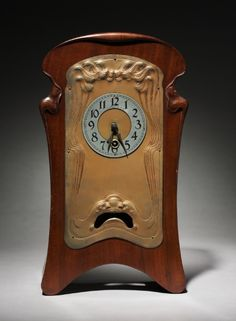 Mantle Clock / made by Lenzkirch Clock Factory (German), retailed by Tiffany & Co. (American) / 1901 / brass and mahogany