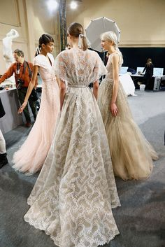 #lace #backstage at georges hobeika | paris fashion week