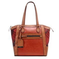 Maple and West London Fog Milton Tote - Red