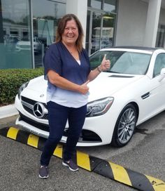 """This gorgeous brand-new 2017 @mercedesbenz SLC 300 is heading to her new home in Gulf Breeze with a very happy Michele Middleton! """"OH WOW, I AM SO HAPPY! I can't believe how much this car can do!"""" #ztmotorshappyclients zt_motors#ztmotors #inthecommunity #heroes #dogs #lovewhereyouwork #whitegloveservice #emeraldcoast #mazda #toyota #kia #mercedes #bmw #houston #tallahassee #cars #florida #houston #texas #airmen #aircommandos #military #hurlburt #eglin #honor #relentless #neverstop"""