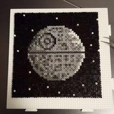 Death Star - Star Wars hama mini beads 812x12cm) by omglinnoscrafts