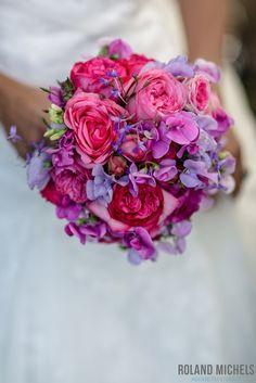 Pink meets purple #bridal #bouquet