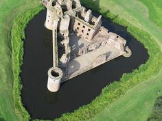 Aireal View Of Caerlaverock Castle