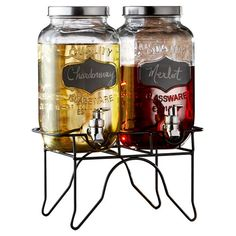 Found it at Wayfair Supply - Hargrove 3 Piece Dual Beverage Dispenser Set