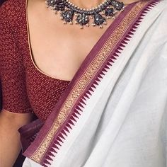 Image may contain: one or more people and closeup Saree Jacket Designs, Saree Blouse Neck Designs, Trendy Sarees, Stylish Sarees, Simple Sarees, Indian Dresses, Indian Outfits, Saree Jackets, Dress Jackets