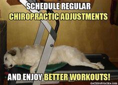 Schedule regular chiropractic adjustments and enjoy better workouts!
