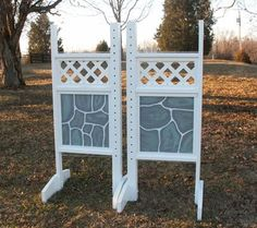 Amazon.com: Lattice Top Stone Pattern Bottom Wing Standards Wood Horse Jumps: Sports & Outdoors