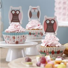 Patchwork Owl Party Cupcake Cases And Toppers by Ginger Ray, the perfect gift for Explore more unique gifts in our curated marketplace. Tea Party Decorations, Birthday Decorations, Party Themes, Party Ideas, Fun Ideas, Cupcake Cases, Cupcake Toppers, Owl Party Supplies, Rustic Candy Bar