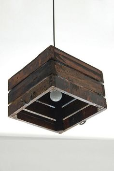 Sleeper Wood Pendant Lamp by Like That One