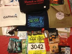 Rock 'n Roll 1/2 Marathon Expo (San Jose, Ca) - swag was pretty good this year.