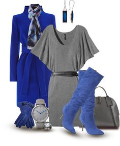 """""""Blue and Gray"""" by kori-belle on Polyvore"""