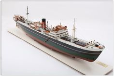 """A shipbuilders' model of the S.S. """"Yorkwood"""" for the Constantine Shipping Co. Ltd. British, circa 1936"""